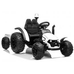Traktor na akumulator z Przyczepą HZB-200 Biały