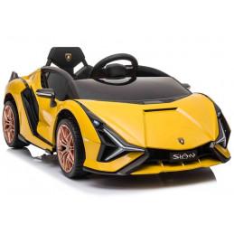 Auto na akumulator Lamborghini Sian Żółty